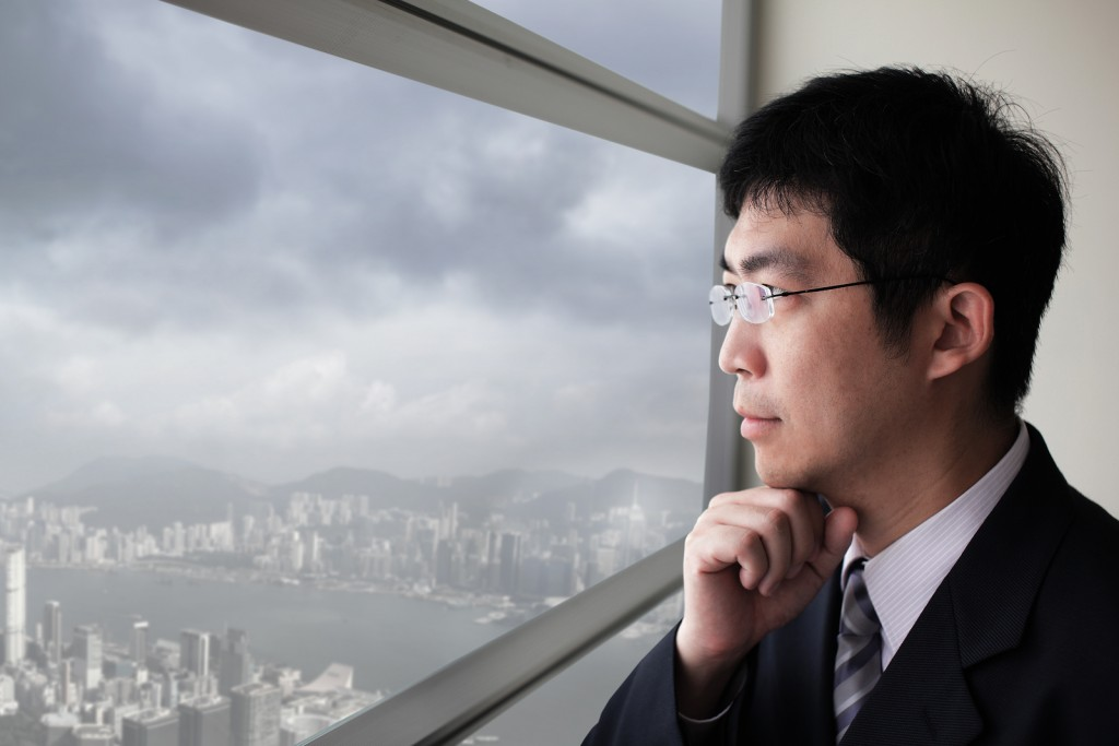 Banker in Deep Thought