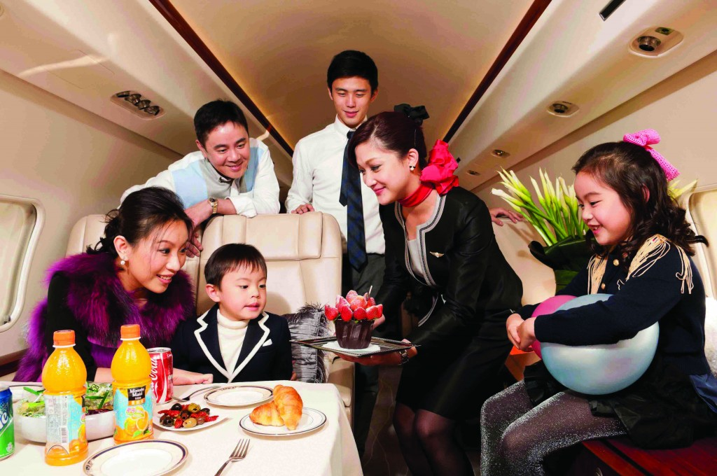 Chinese Family on Private Jet