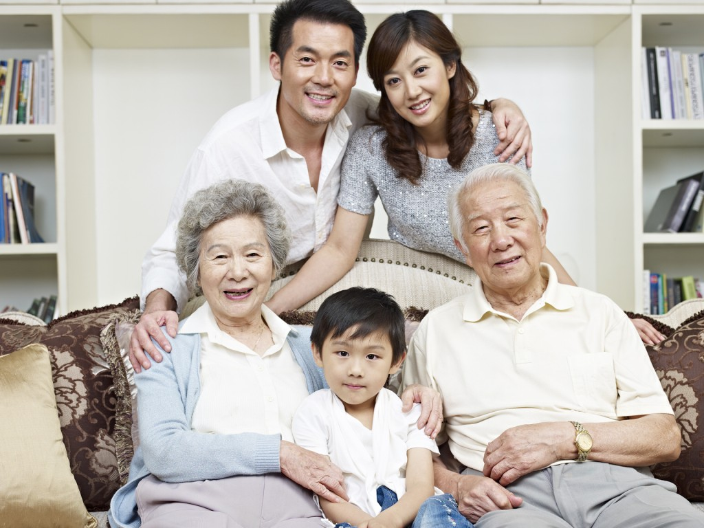 Wealthy Asian Family