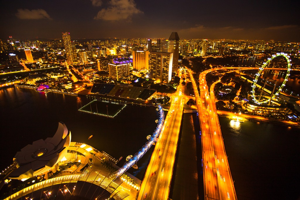 A Fast-Paced Singapore City