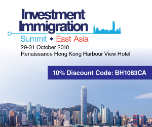 2018 Investment Immgration Summit East Asia Hong Kong October