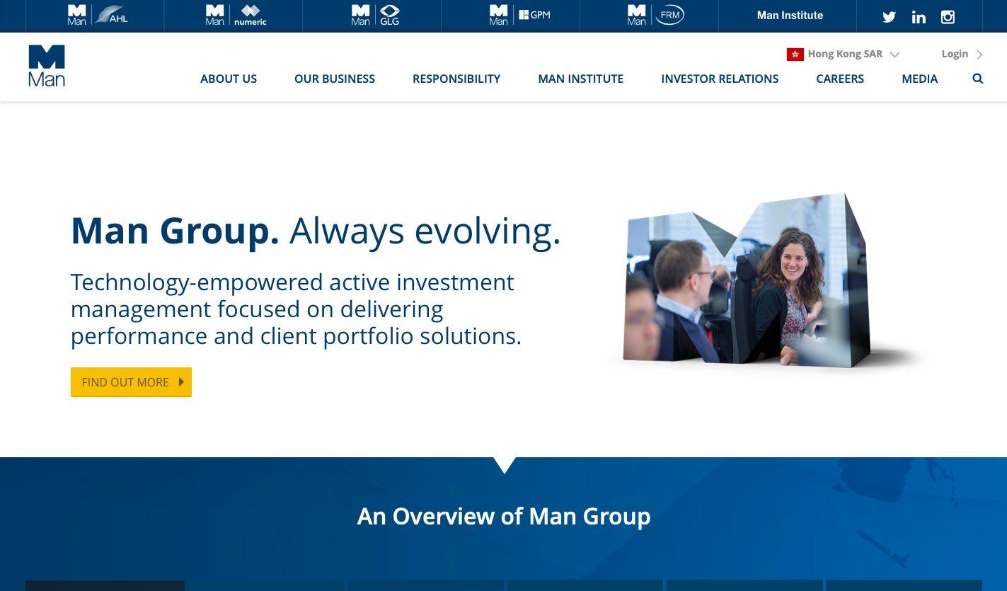 Man Group Website