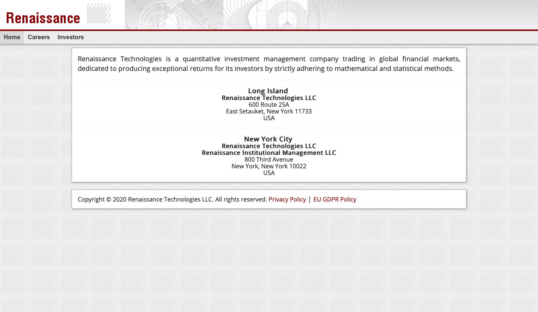 Renaissance Technologies Website
