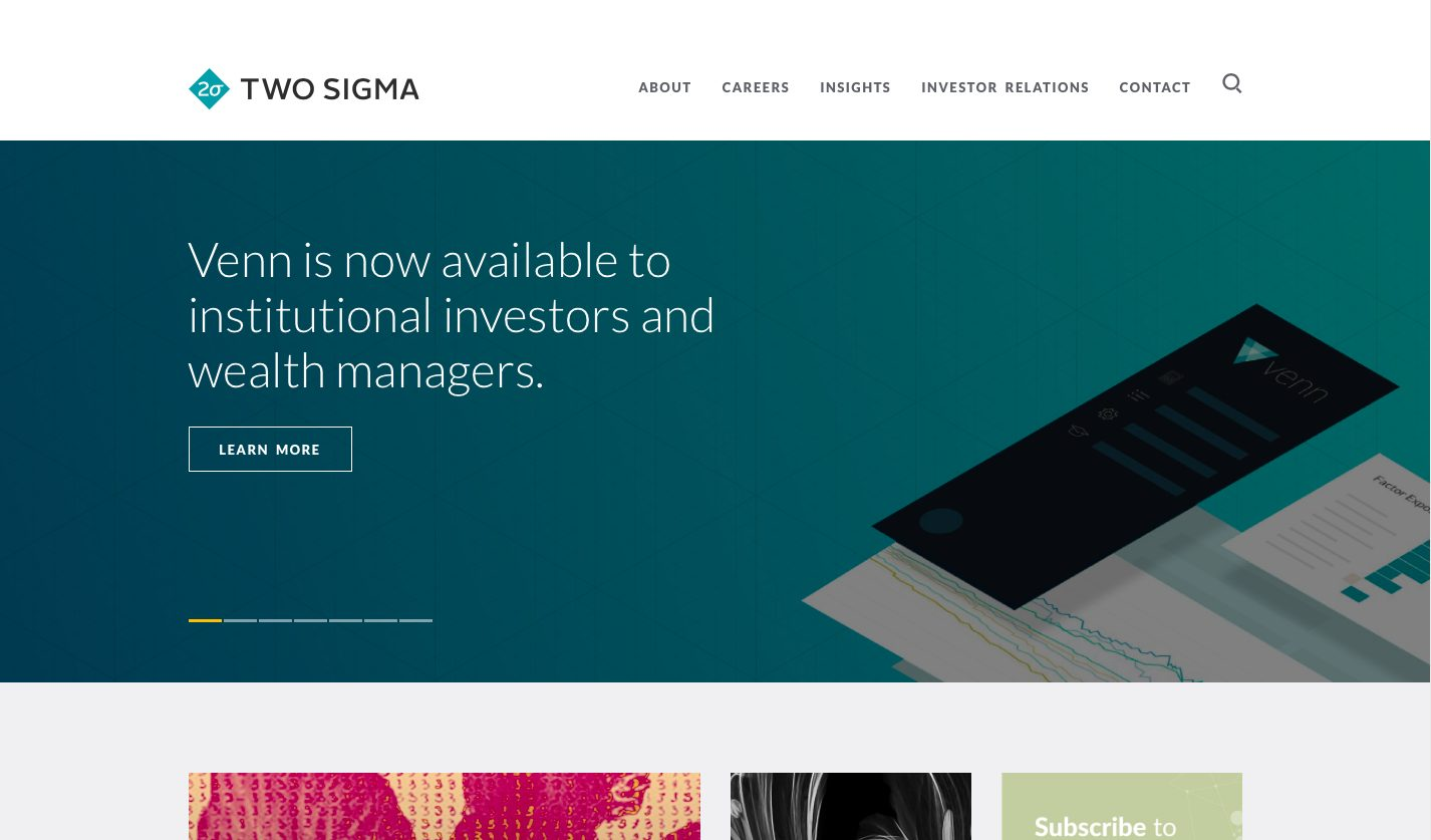 Two Sigma Investments Website
