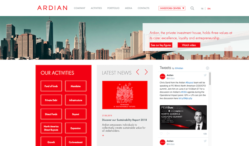 Ardian investment size of twin friendly giant marketing and investments