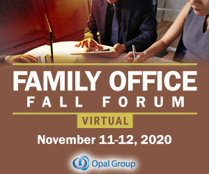 Family Office Fall Forum 2020 November 300x250