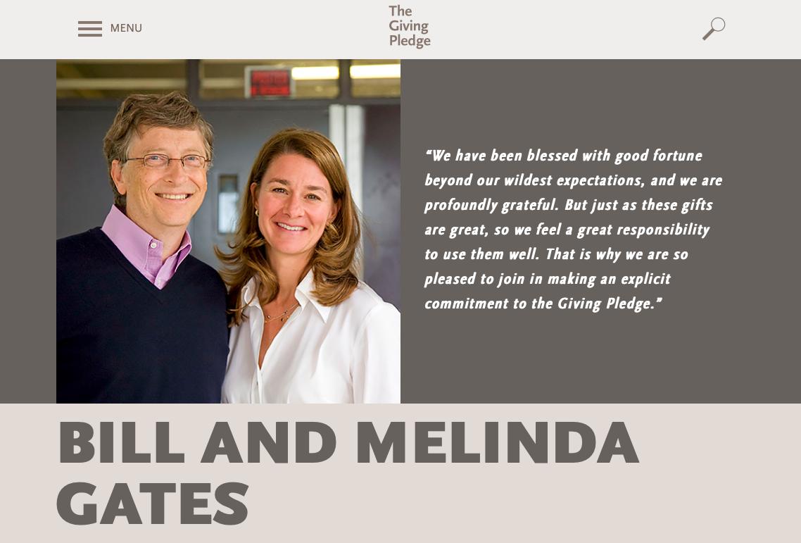 Bill Melinda Gates The Giving Pledge